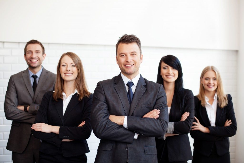 employees wearing business attire