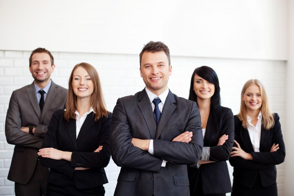 employees wearing business attire