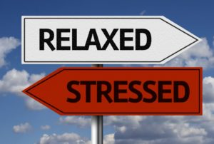 relaxed and stressed arrow sign