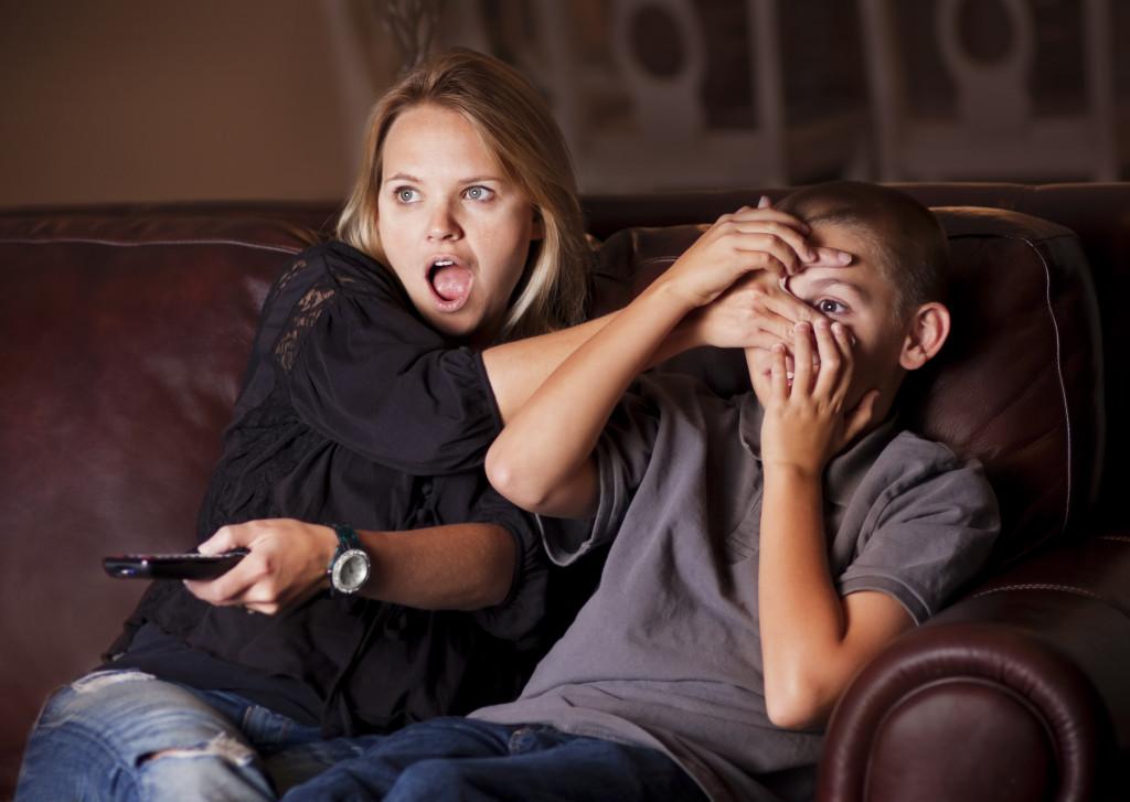 Parent Guarding Son