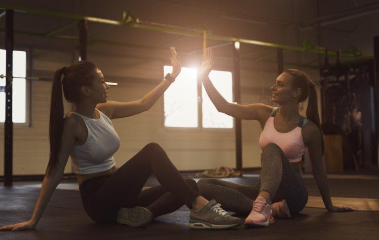 women in gym