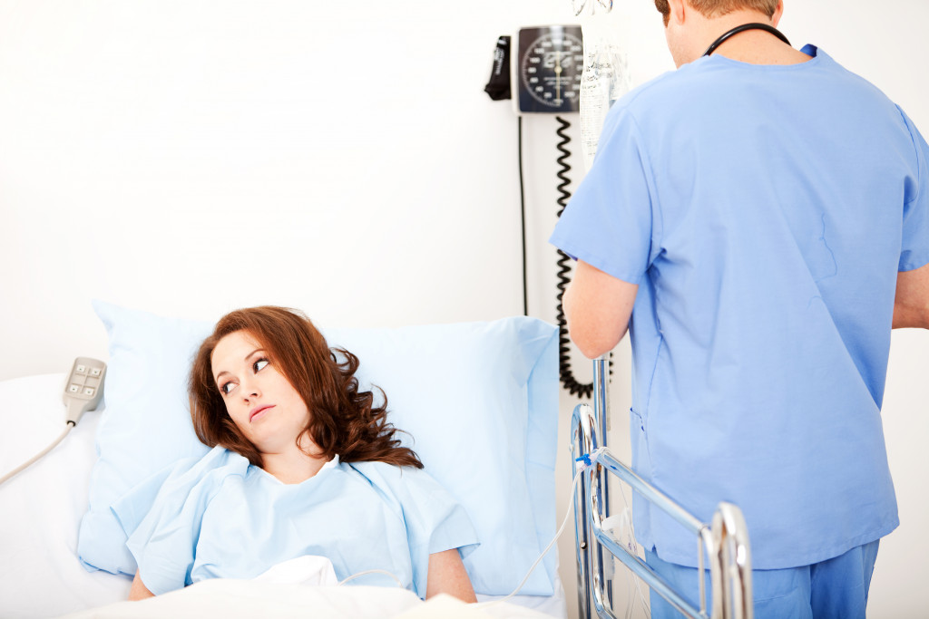 confined patient at the hospital