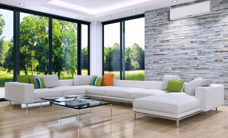 modern house with big windows